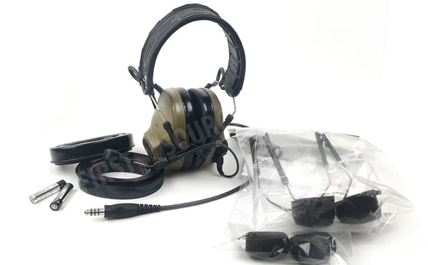 Coyote Brown 3M Peltor Comtac VI NIB Single Comm Headband - First Source Wireless