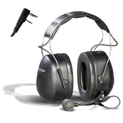 3M PELTOR MT Series 2-Way Comm Headset Headbnd, Direct wired headset for KENWOOD TK220/320 MT7H79A-C0046 - First Source Wireless