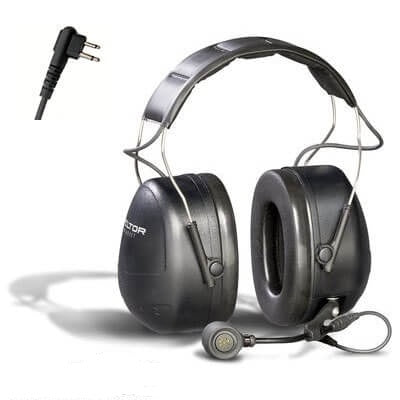 3M PELTOR MT Series 2-Way Comm Headset Headband, Direct Wired headset for Motorola CP200