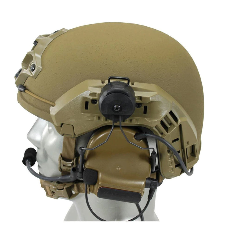 Coyote Brown 3M ComTac VI NIB Dual Comm Headset