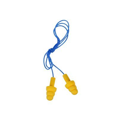 3M E-A-R UltraFit Earplugs 340-4004, Corded, Poly Bag, 400 Pair/Case - First Source Wireless