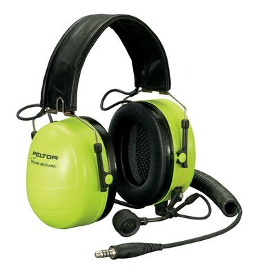 3M PELTOR Ground Mechanic Communications Headset MT7H79F-01 GB, Neon Cups 1 EA/Case - First Source Wireless