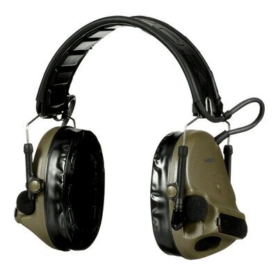 3M PELTOR ComTac V Hearing Defender Headset MT20H682FB-09 GN, Foldable, Green - First Source Wireless