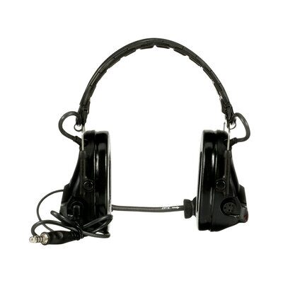 3M PELTOR SwatTac V Headset MT20H682FB-47 SV, Foldable, Single Lead, Standard Dynamic Mic, NATO Wiring, Black - First Source Wireless