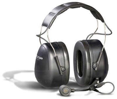 3M PELTOR MT Series 2-Way Comms Headset Headband, Direct wired headset (PTT on left cup) for Motorola HT750/HT1250 1 EA/Case - First Source Wireless