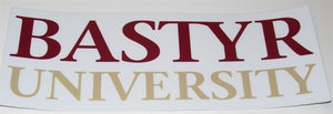 Bastyr University Logo Decal