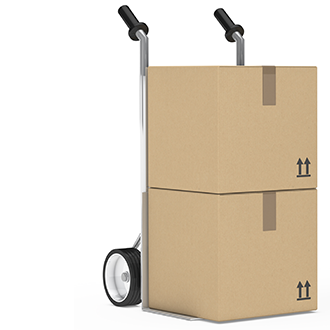 RCV Dolly with Shipping Boxes