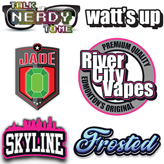 River City Vapes E-Liquid Brand Logos