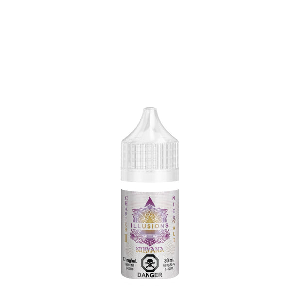 Nirvana Salt Nic, e-Liquid, Illusions - River City Vapes