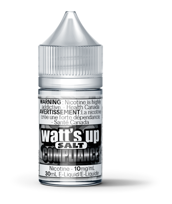 Compliance Salt Nic, e-Liquid, Watt's Up Salt Nic - River City Vapes