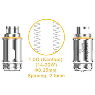 Aspire Nautilus X Replacement Coils, Coils, Aspire - River City Vapes