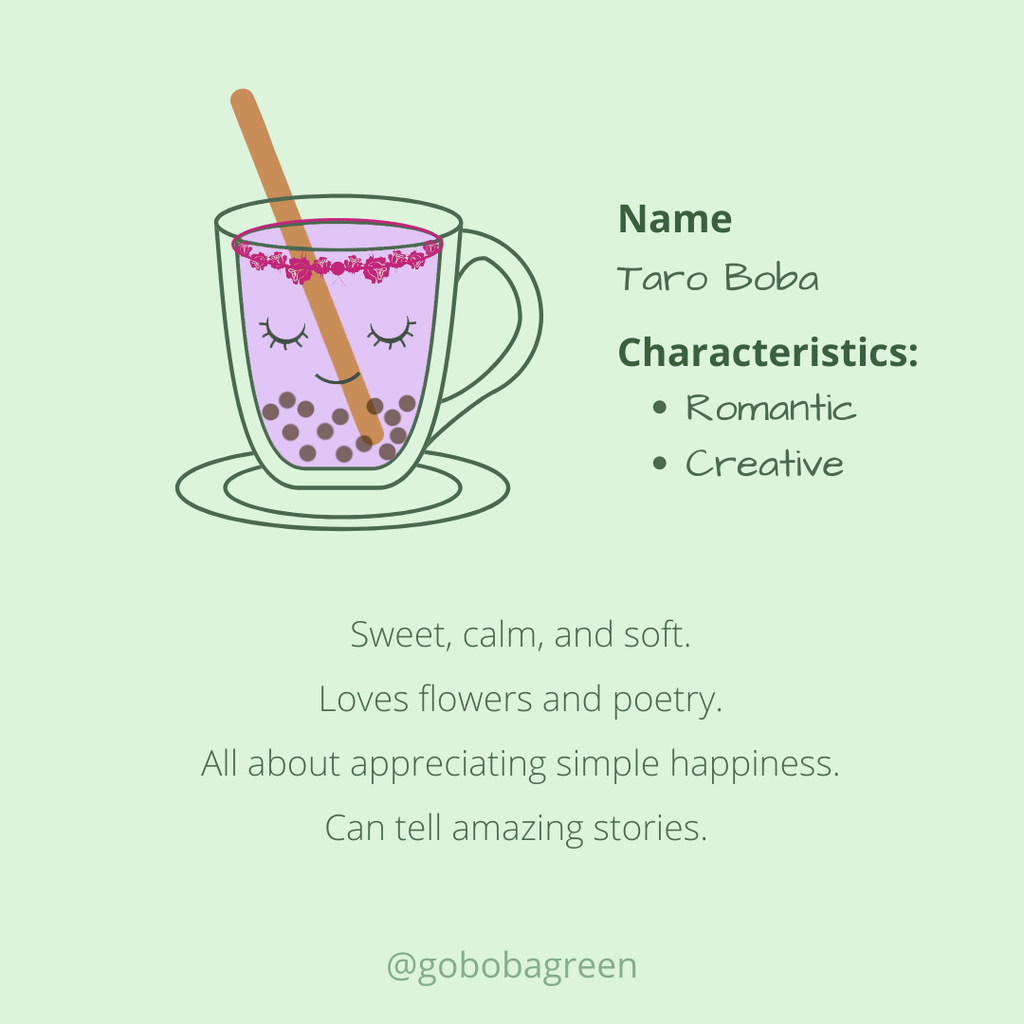 Meet the boba family: Taro Boba