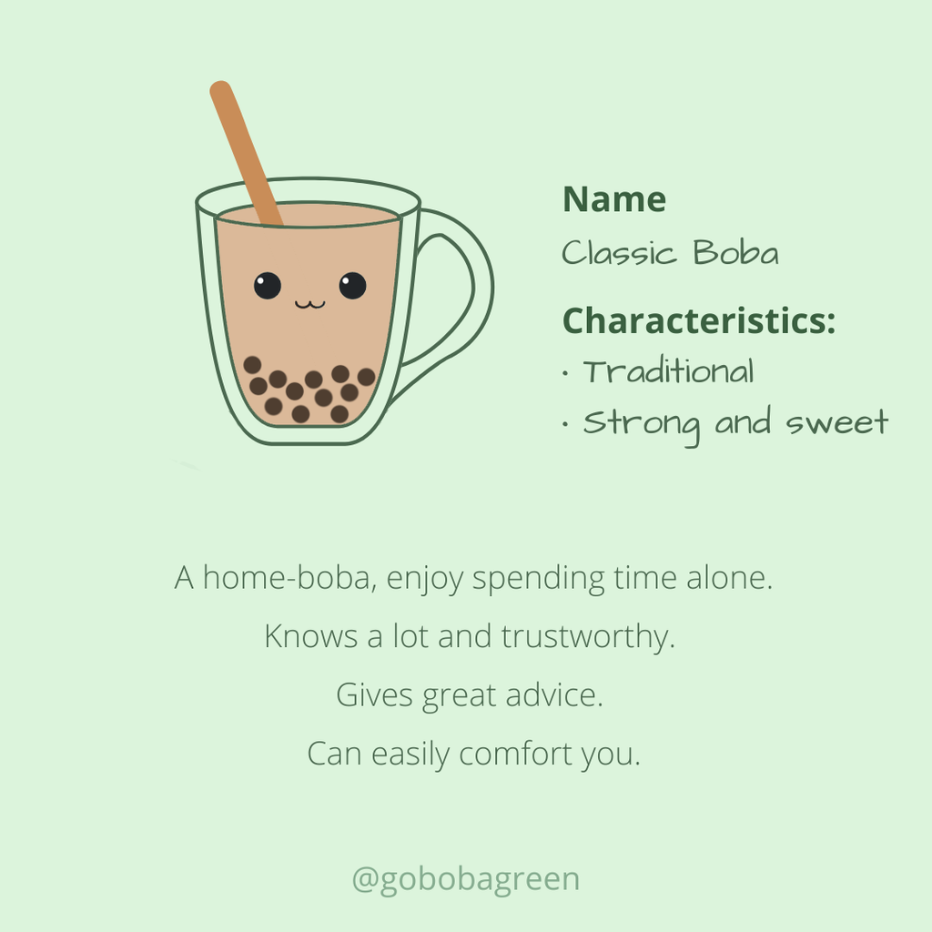 Meet the boba family: Classic Boba