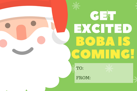 get excited. boba is coming