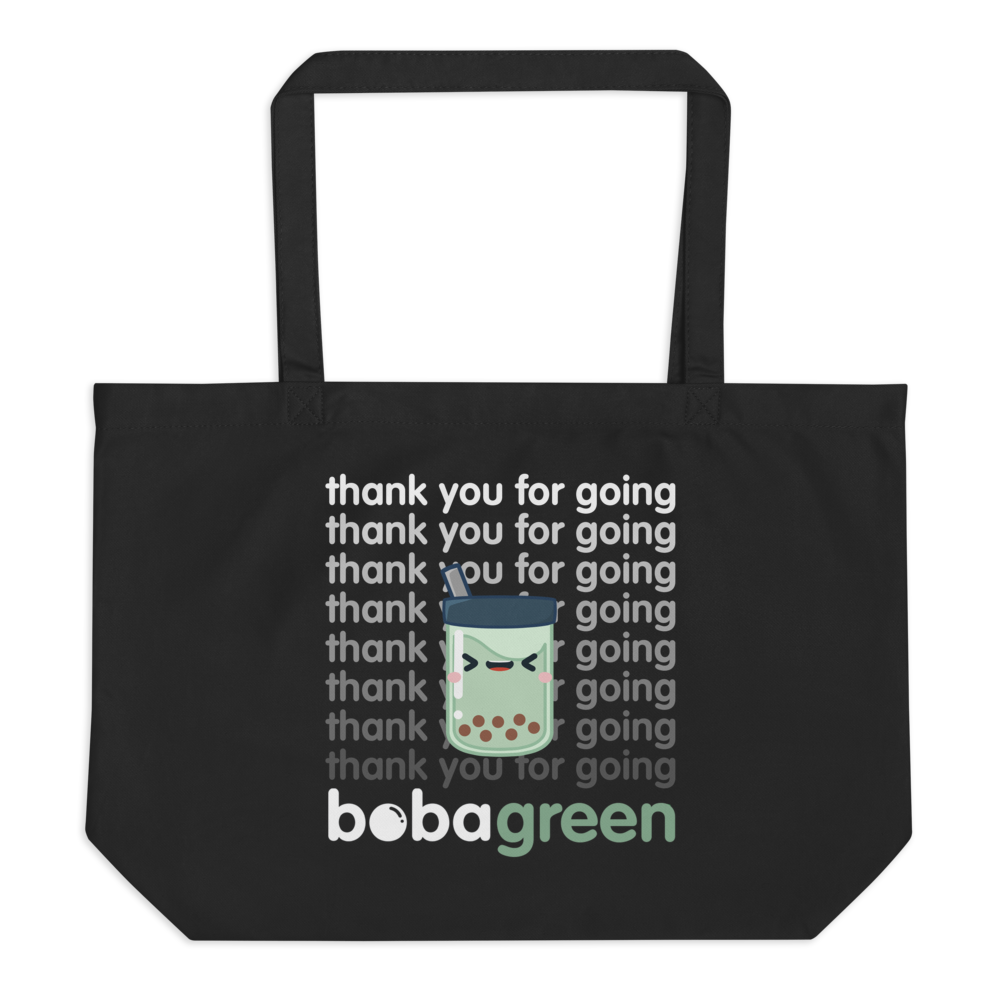 Organic Reusable Tote Bag - Large (Black)