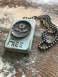 Vintage Button Truth Necklace