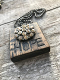 Vintage Button Necklace Hope