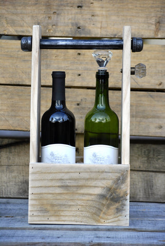 Rustic Chic Wine Box Carrier
