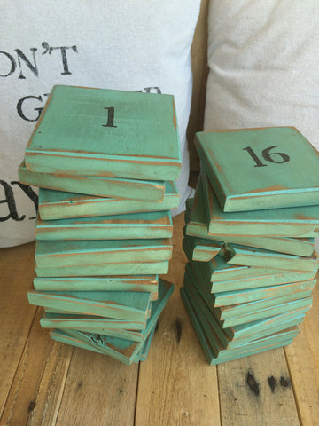 Rustic Wood Numbered Coasters