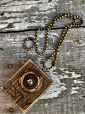 Wood Word Necklace