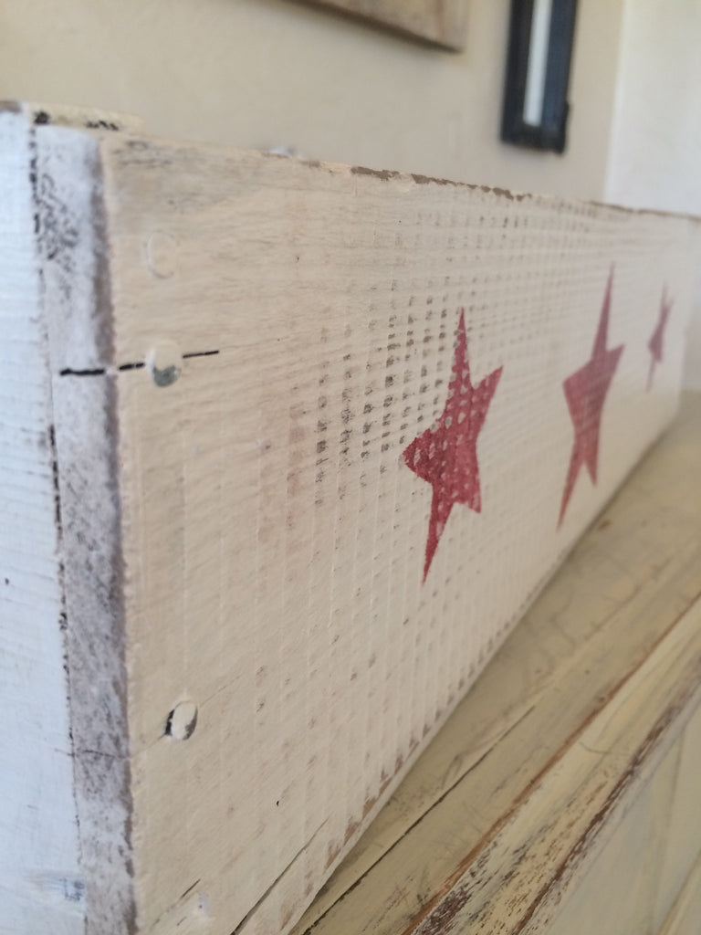 Painted Wood Box with stars