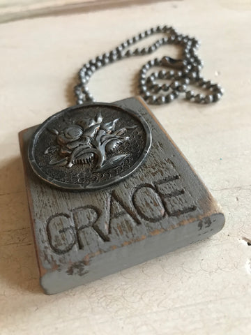 Vintage Grace Button Necklace
