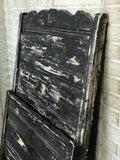 Antique Wood Headboard and Footboard