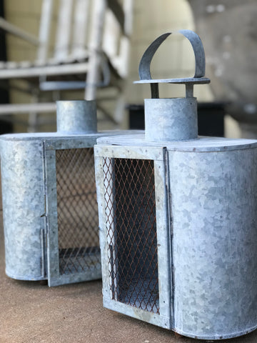 Large Galvanized Lanterns