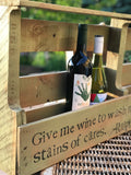 Repurposed Wood Wine Rack