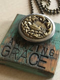 Vintage Amazing Grace Button Necklace
