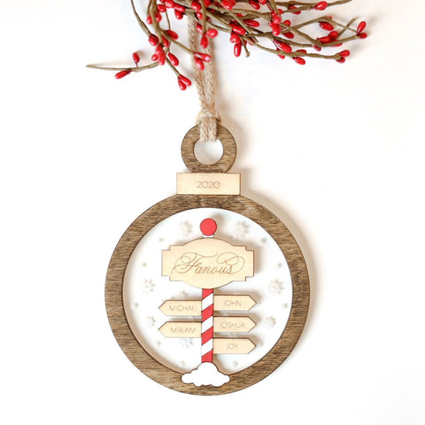 Personalized North Pole Sign Ornament