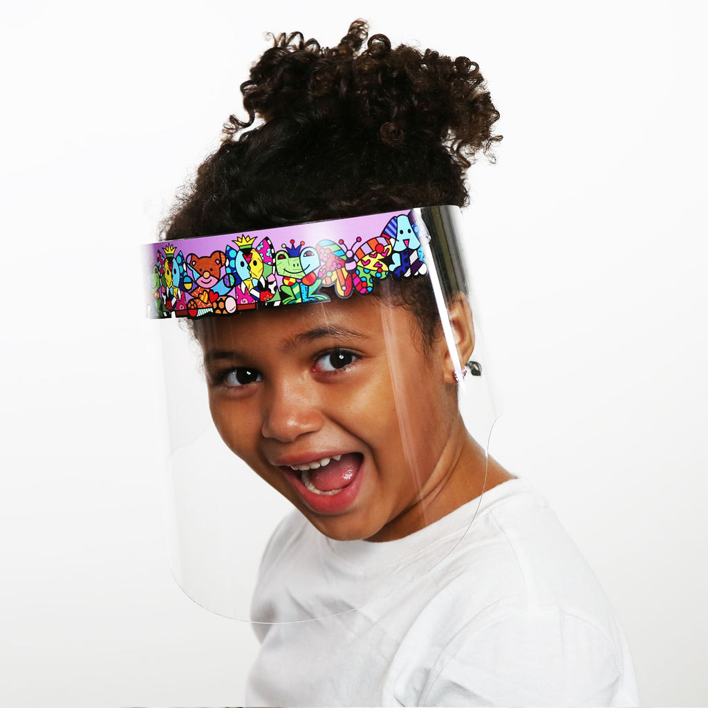 Britto Kids Purple Zoo Faceguard
