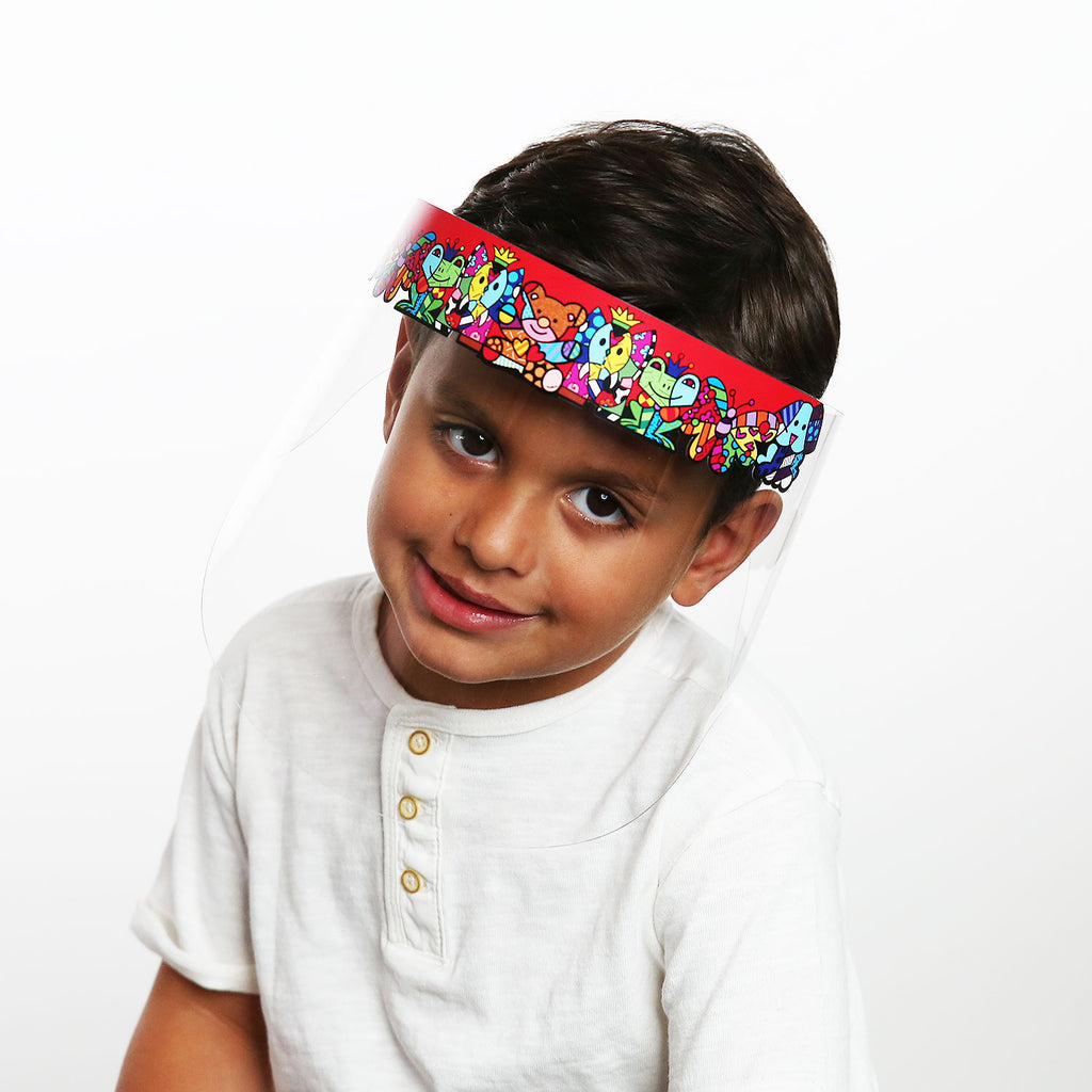 Britto Kids Red Zoo Faceguard