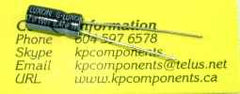 0.47uF 100V 105°C Radial Electrolytic Capacitor 5X11mm - G-LUXON - Capacitor - KP Components Inc