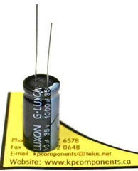 1000uf 35V 105C Radial Electrolytic Capacitor 13X25mm - G-LUXON - Capacitor - KP Components Inc
