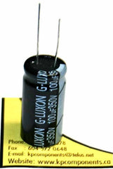 100uF 350V 105°C Radial Electrolytic Capacitor 18X36mm - G-LUXON - Capacitor - KP Components Inc