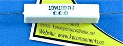 100 Ohm 10W Resistor Ceramic Axial Lead - vendor-unknown - Resistor - KP Components Inc