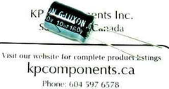 10uF 160V 105C Radial Electrolytic Capacitor 10X15mm - G-LUXON - Capacitor - KP Components Inc