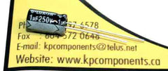1uF 250V Electrolytic Capacitor Radial 105°C - G-LUXON - Capacitor - KP Components Inc