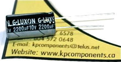 2200UF 10V 105C Radial Electrolytic Capacitor 10X20mm - G-LUXON - Capacitor - KP Components Inc