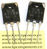 2SA1186 2SC2837 Pair of Audio Transistors - Sanken - Transistors - KP Components Inc