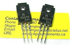 2SB1616, 2SD2478- One pair Darlington Transistors - Rohm - Transistors - KP Components Inc