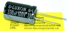 330uF 100V Capacitor High Temp Radial - G-LUXON - Capacitor - KP Components Inc