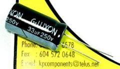 33uF 250V Capacitor High Temp Radial - G-LUXON - Capacitor - KP Components Inc