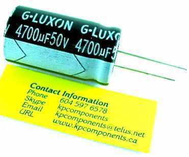 4700uf 50v Capacitor Radial 105 176 C Kp Components Inc