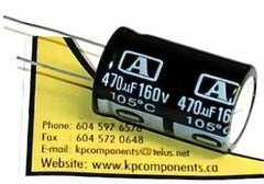 470uf 160V 105C Radial Electrolytic Capacitor 20X35mm