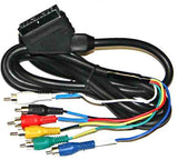 Scart Plug to 6 Phono Plugs Cable