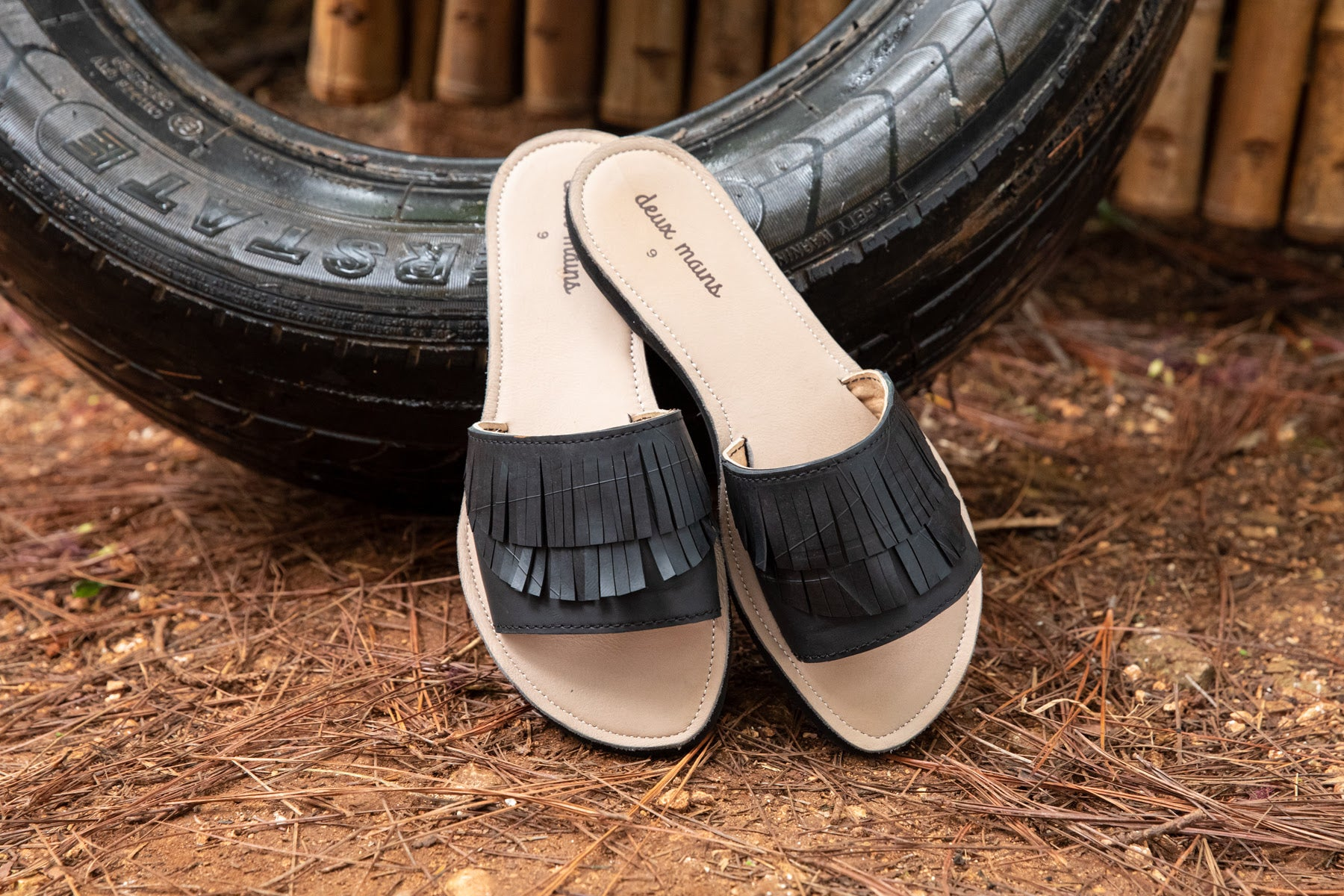 From Tires to Gorgeous Sandals