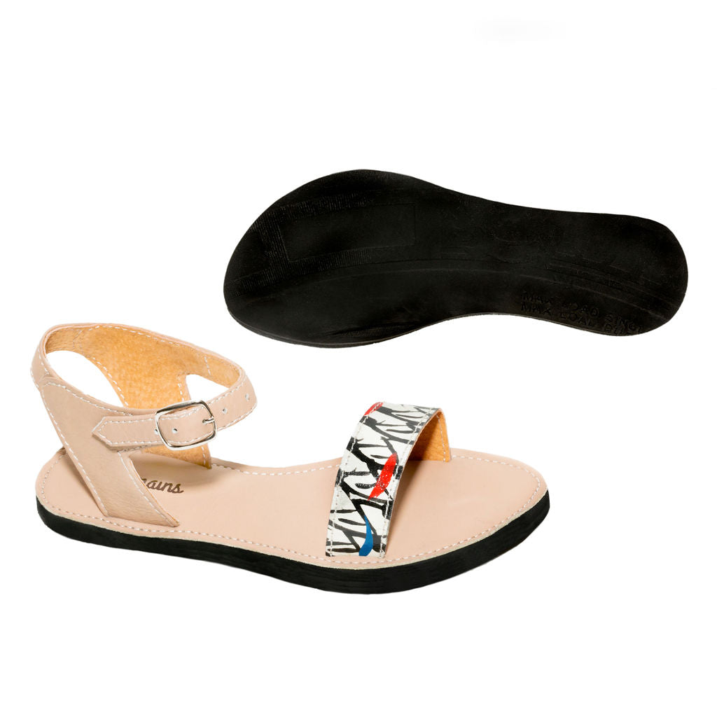 Hand Painted Ankle Strap Sandal