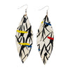Sterling Silver and Canvas Feather Earrings